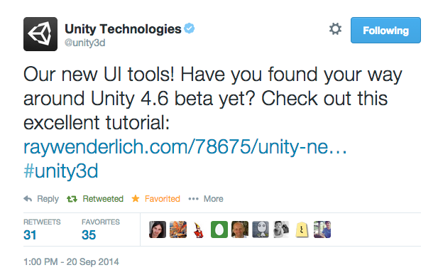Unity 4.6 New GUI Tweet