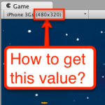 Get Game View Resolution Unity